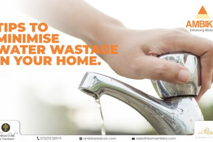 tips to minimise water wastage in your home
